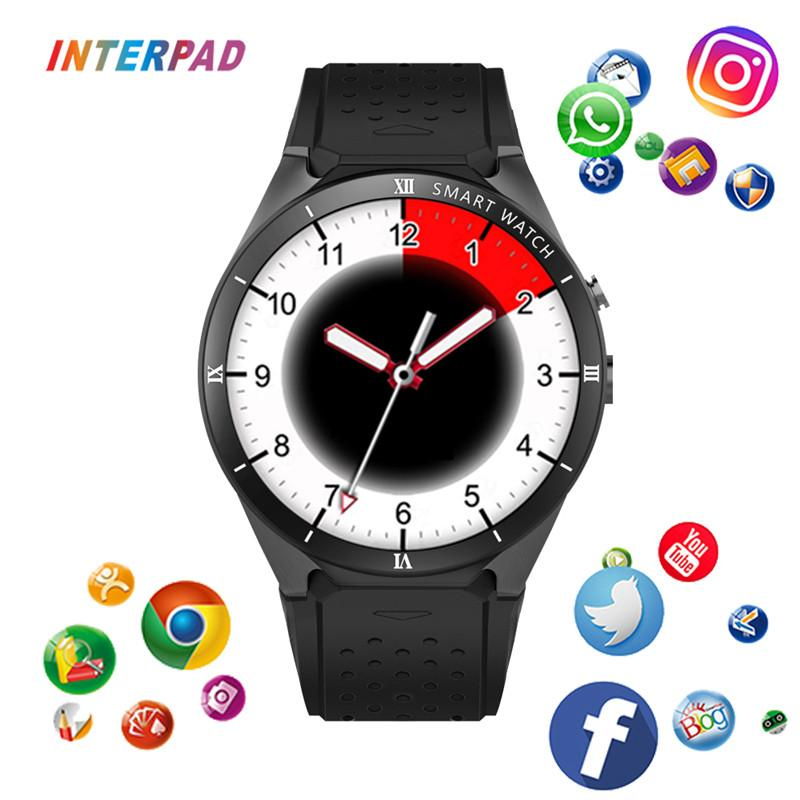 New Interpad KW88 Pro Smart Watch 1GB RAM 16GB ROM MTK6580 3G GPS WIFI  Android 7 0 Smartwatch Support Google Weather