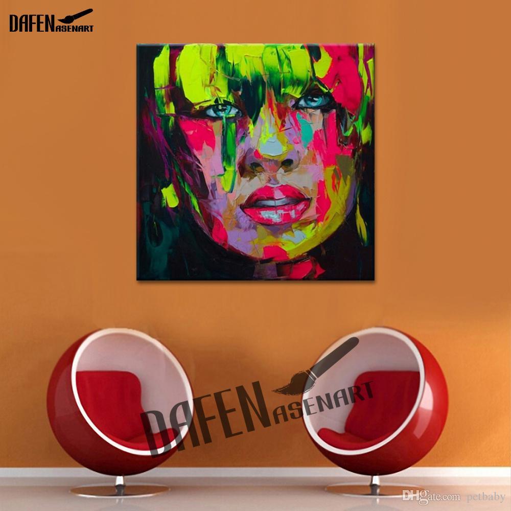 Плачущая девушка ручная роспись маслом холст палитра нож рисунок картина росписи искусства дом отель отель декор стен