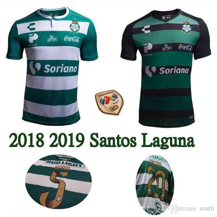san francisco 4b2a3 ee53f 2018 19 Mexicana de Fútbol Santos Laguna Jersey De Visita Marca Charly  Guerreros Soccer Jersey Mexico la liga shirt S - XXL