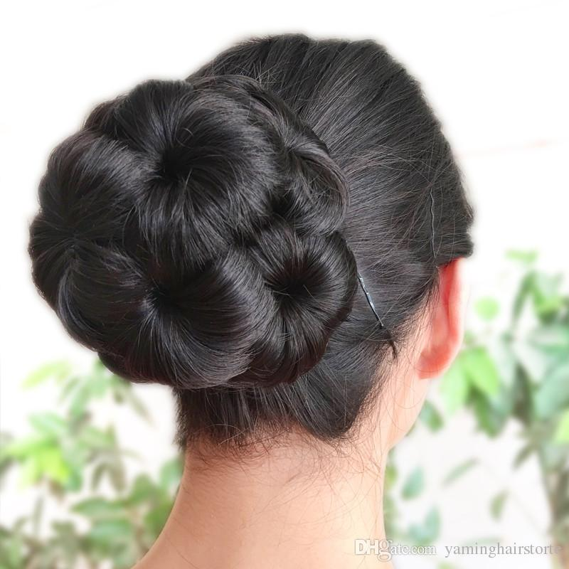 Synthetic Fiber Curly Chignon Elastic Band Scrunchie Fake Hair Extension  Bundles Updo Hairpiece Buns Drawstring For Woman Bridal Chignon Chignon Pin  From ... 6d37c828703