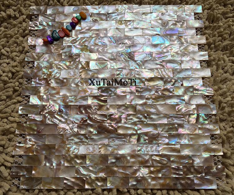 Mosaico piastrelle di rete crystal conchiglia blu mosaico di vetro