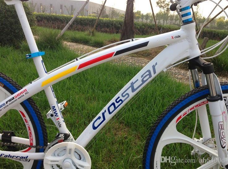 wholesale 26*17 inch Aluminium alloy frame mountain bike road bikes double disc brake Suspension fork MTB bicycle