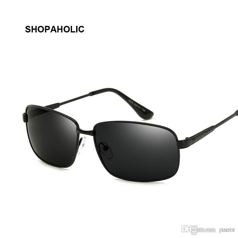 8ee21f911bef Fashion Retro Polarized Sunglasses Men Brand Designer Square Driver Sport  Male Black Sunglasses Lens Classic Metal Frame Oculos Glasses Frames Glasses  ...
