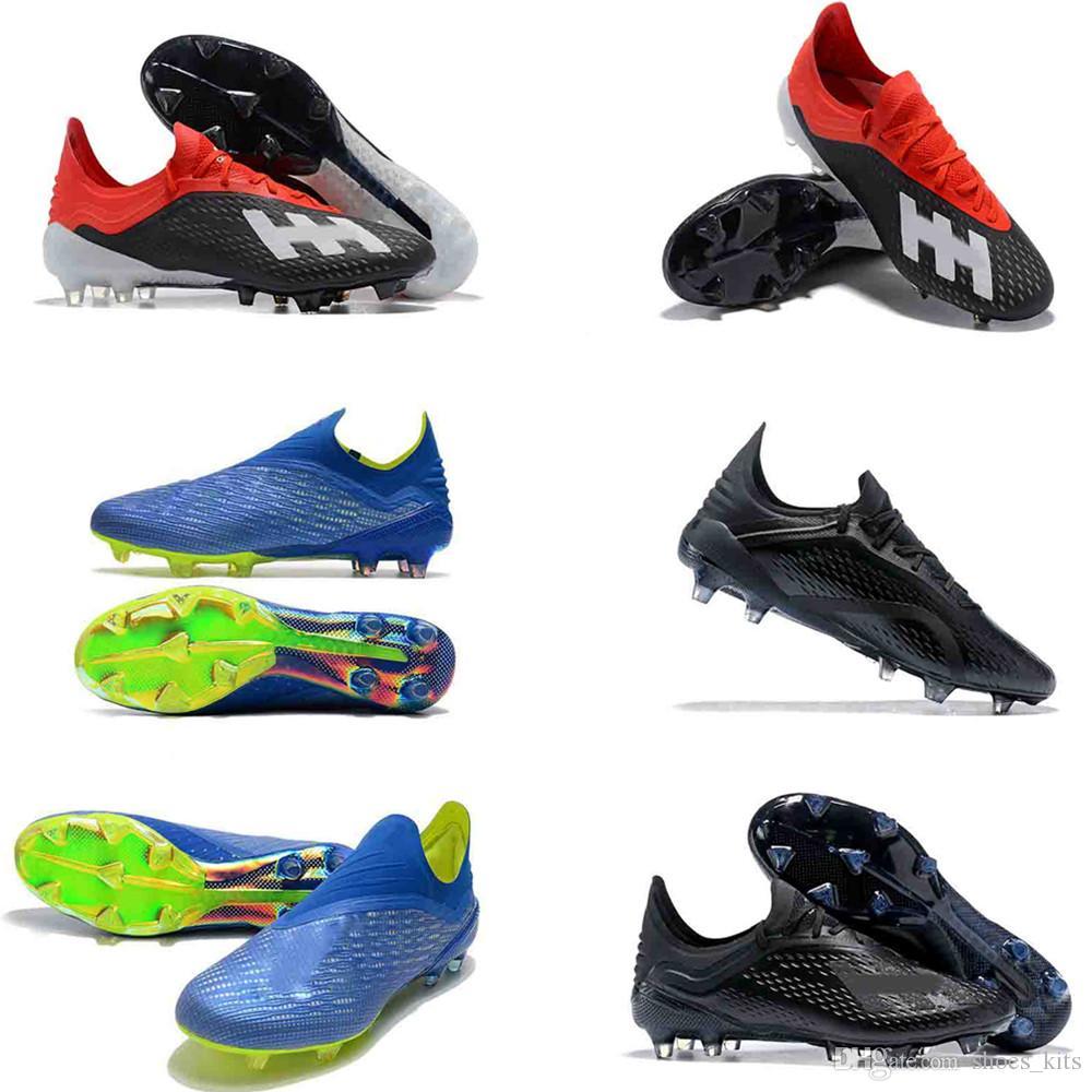 Compre Botas Altas De Fútbol Para Hombre Predator X 18.1 FG Zapatos Fútbol  ACE 17 PureControl X 18.1 Speedmesh Messi Purechaos Botas Fútbol Para  Exteriores ... 8c0feb7fb7feb