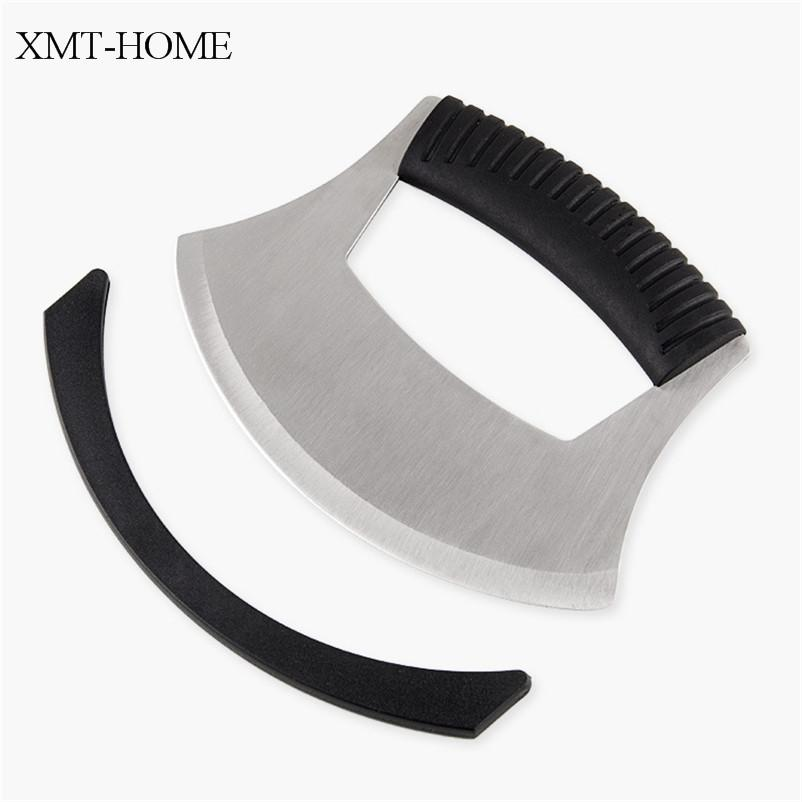 XMT-HOME steel semi-circular round knife pizza knife cheese slicers cutter baking tools spaghetti cutter 1pc