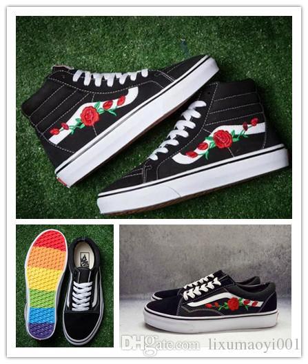 scarpe con rose vans