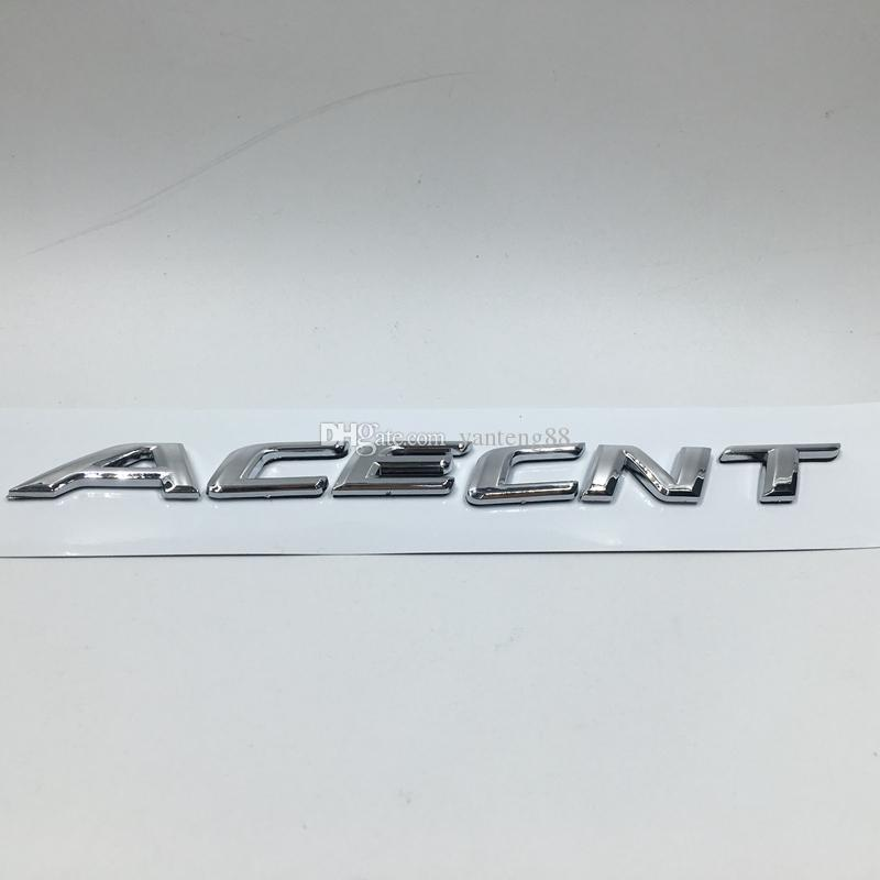 2019 For Hyundai Accent Abs Chrome Rear Car Trunk Emblem Letter