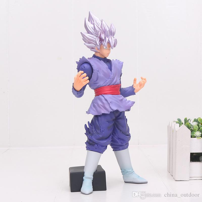 NEUE 20 CM Dragon Ball Super Saiyan schwarz Son Goku PVC Action Figure Spielzeug Goku Lila Dragon Ball Z abbildung FES