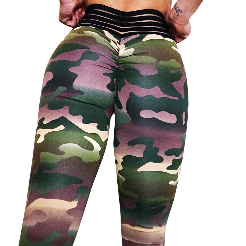 Compre 2018 Leggings Deportivos Fitness En Polainas De Las Mujeres Workout  Pantalones De Yoga Impresos Camuflaje Pantalones Deportivos Para Niñas  Deporte A ... 91e94be7c969