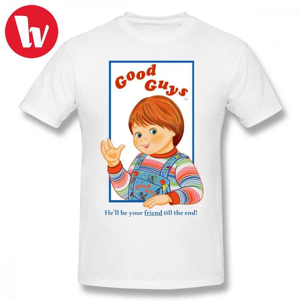 1c24f25c7de22 Icon T Shirt Child S Play Good Guys Chucky T-shirt Men Cartoon Print Cotton  Basic Tee Shirt Male Plus Size Graphic T Shirts