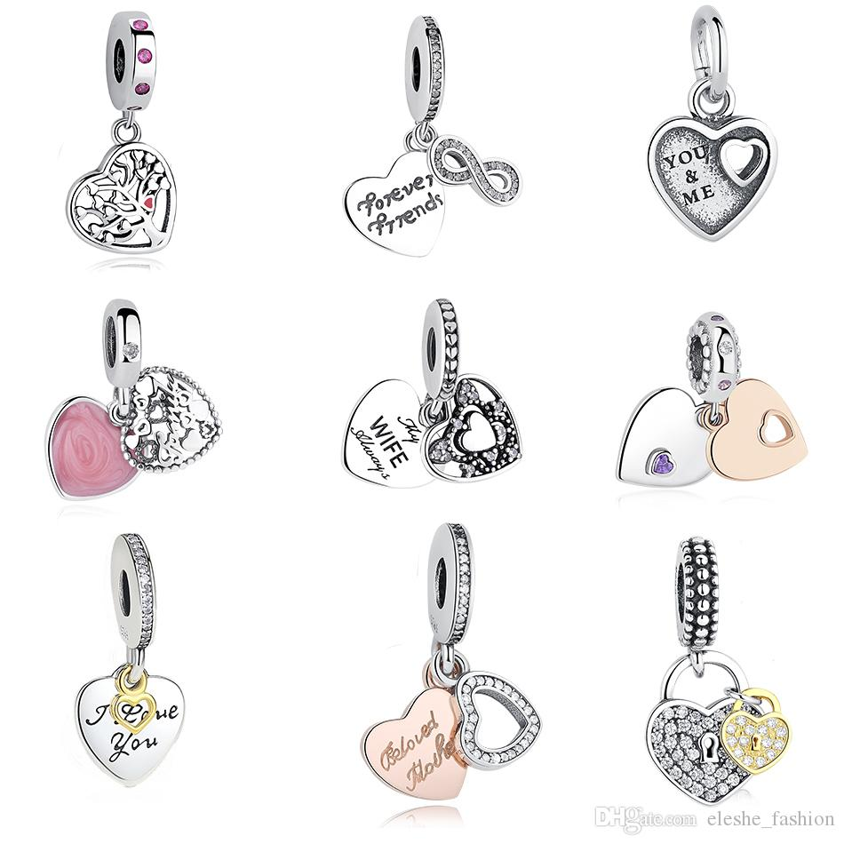 New Free Shipping Silver Plated Bead Alloy Sparkling Arcs Of Love Clip Fit Original Pandora Bracelet Necklace Diy Women Jewelry Jewelry & Accessories