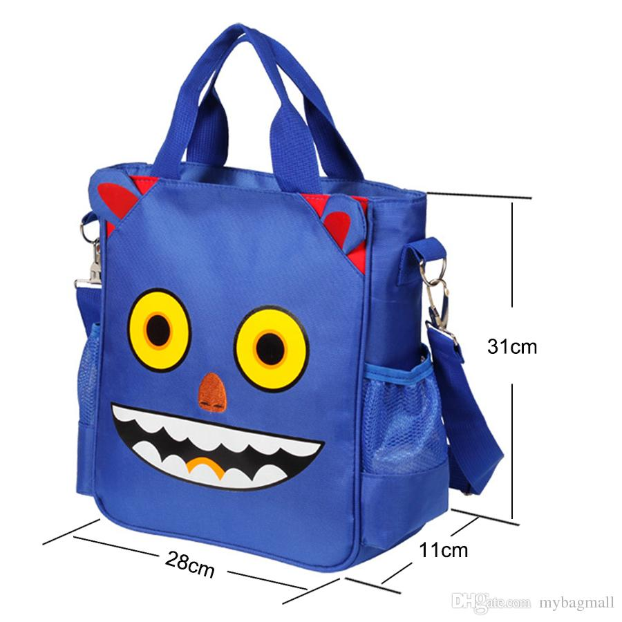 New Super Cute Kawaii Character Unisex Red Black Blue Light Pink Purple Robot Bag Backpack For Kids Children 6-12 Years Old