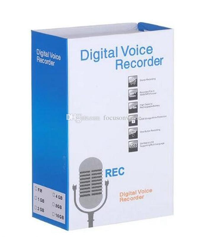 Enregistreur vocal numérique de 8 Go avec aimant puissant Clip Enregistreur vocal audio numérique mini Dictaphone support de carte TF