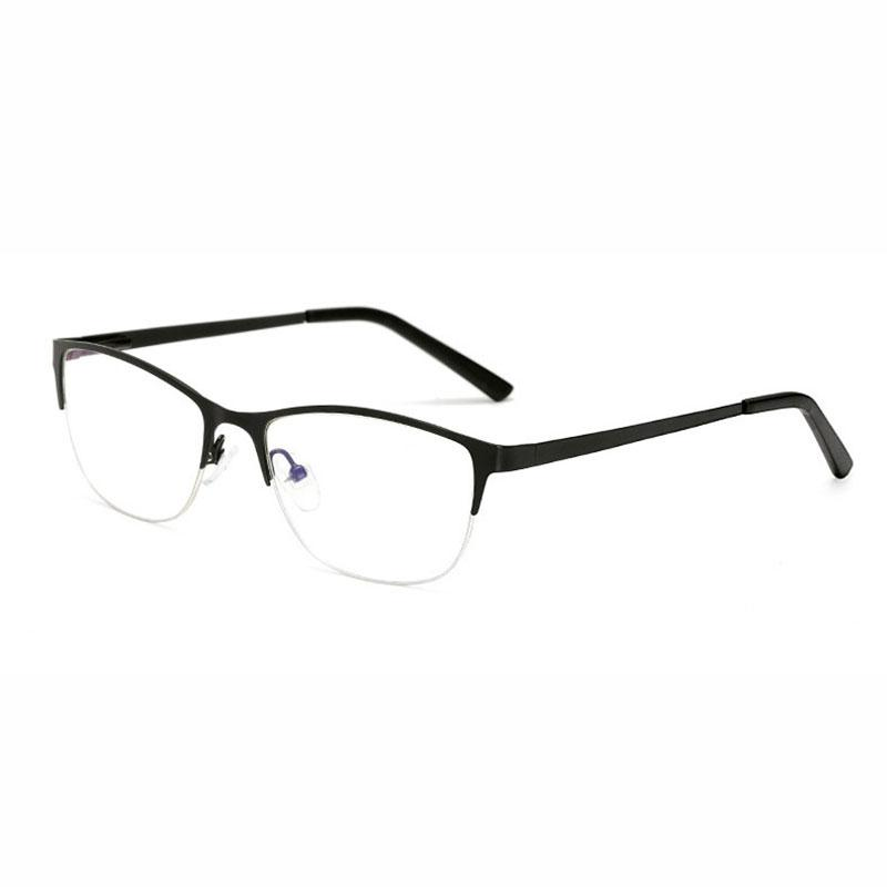 2544b68c60 BINYEAE 414 Women Half Rim Eyeglasses Optical Prescription Glasses Frame  for Female Alloy Metal Fashion Eyewear Spectacles Prescription Glasses  Frames ...