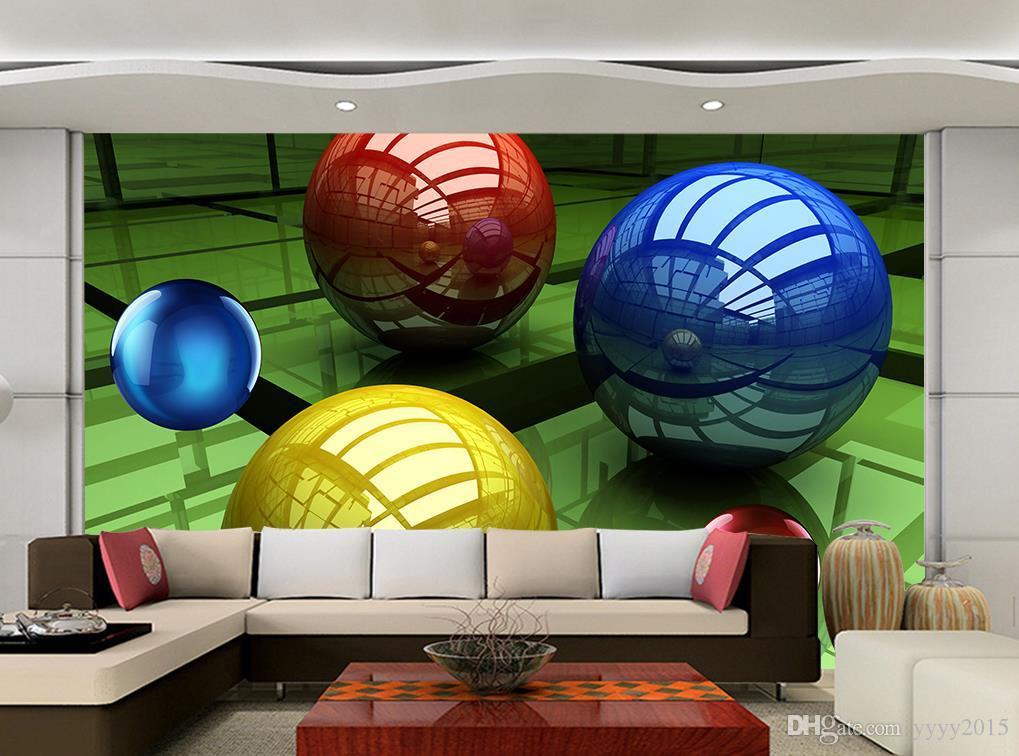 wall papers home decor 3D colored balls three-dimensional space background wall 3d murals wallpaper for living room