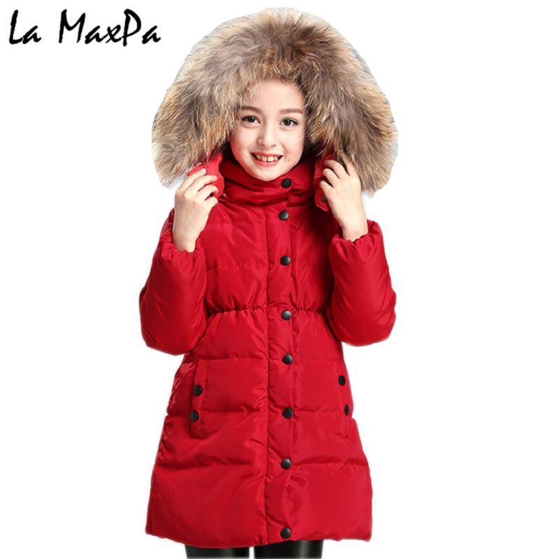a97e3320d Compre Chaqueta De Invierno Abrigo De Niña Púrpura Lindo Con Capucha De  Color Collar De Piel Para Niños 4 5 6 7 8 9 10 11 Años Ropa Para Niños Ropa  De ...