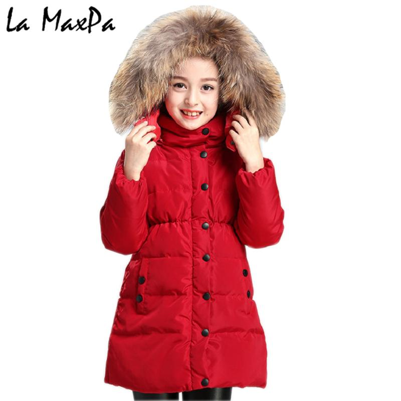 58da59311e58 Winter Jacket Girl Coat Purple Cute Hooded Colored Fur Collar Kids 4 ...
