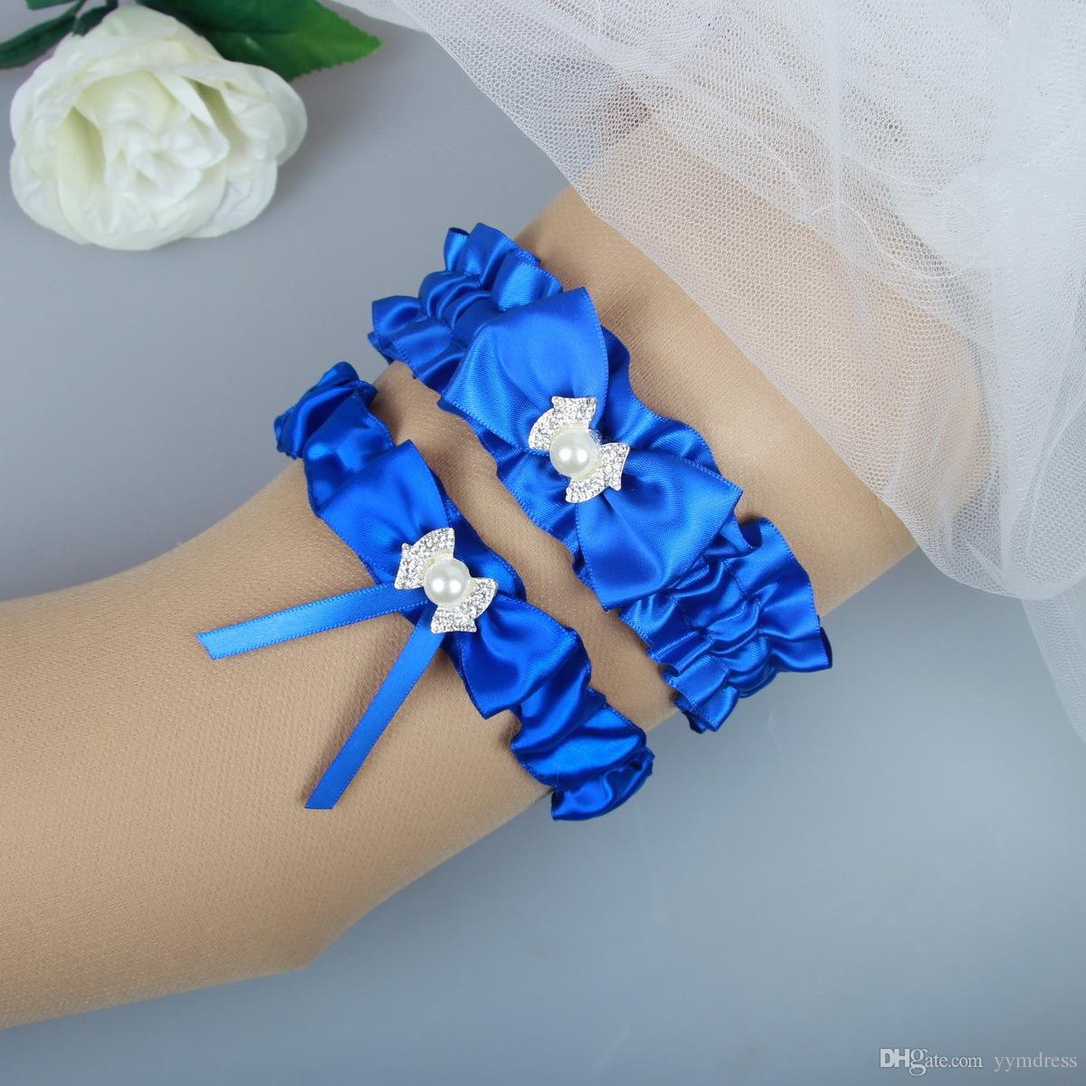 12f3b9836 Cintos De Noiva Ligas De Casamento Para A Noiva Azul Vermelho Perna De  Noiva Ligas Cinto Conjunto Strass Cristais Fita De Cetim Tamanho Livre De  15 A 23 ...