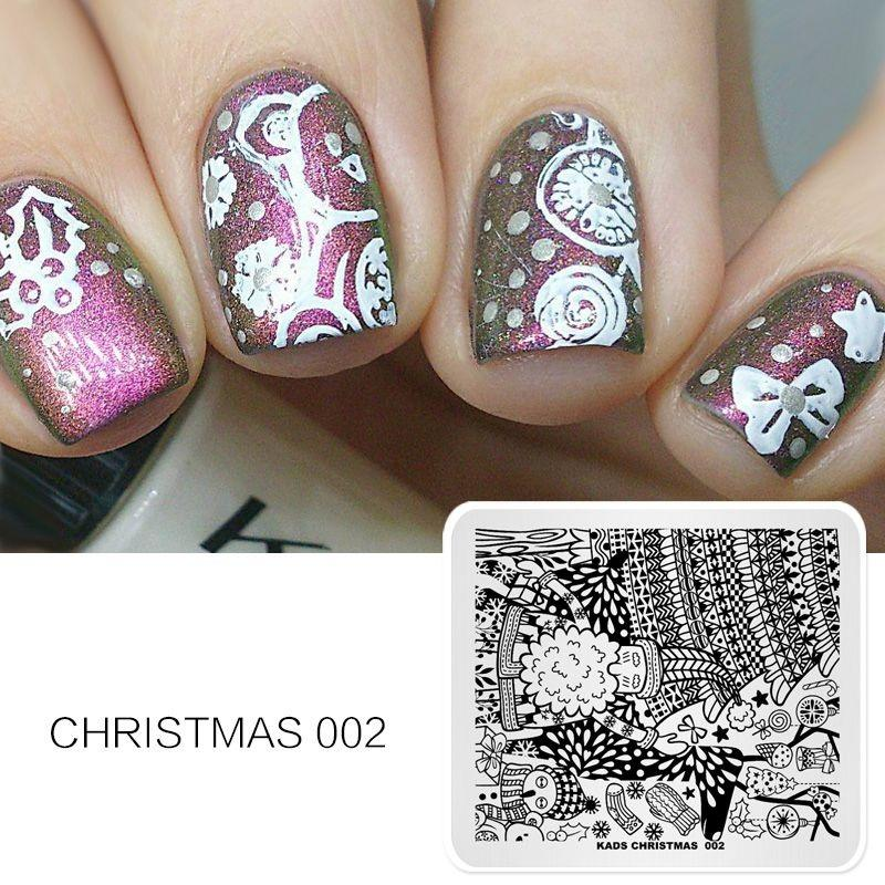 Grosshandel Nail Stamping Plate Weihnachten Vorlage Stempel Bild Kunst Muster Dekorationen Schonheit Susse Manikure Werkzeug Cute Von Forfaceuse
