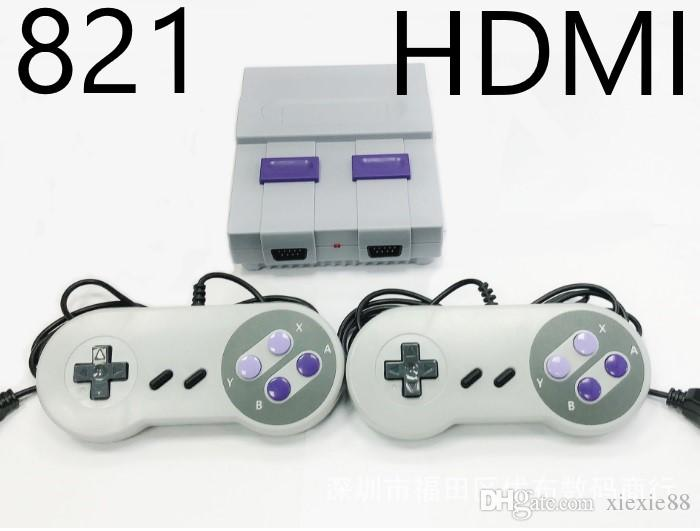 HDMI Out TV Game Console can store 821 games Video Handheld for SNES games consoles Free DHL