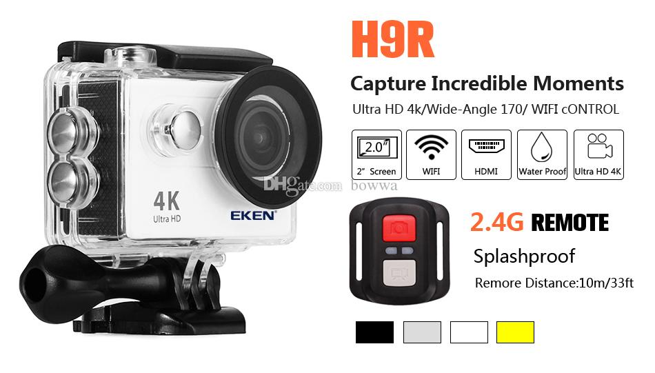 Original EKEN H9 H9R with remote control Ultra HD 4K WiFi HDMI 1080P 2.0 LCD 170D pro Sports camera waterproof MOQ: