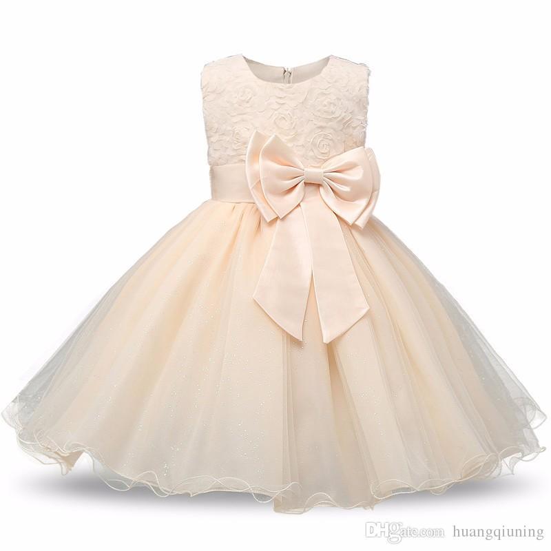 1bae170152fee Acheter Nouveau Né Bébé Robe Enfants Party Wear Princesse Costume Pour Fille  Tutu Bebes Infantile 1 2 Ans Robes D anniversaire Fille D été Rouge  Vêtements ...