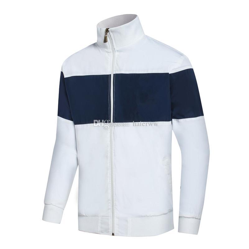 46699a12de26e Compre Moda Novos Homens Jaqueta Polo Primavera Outono Queda Casual Sports  Wear Roupas Blusão Zipper Up Casacos M XXL De Haierww