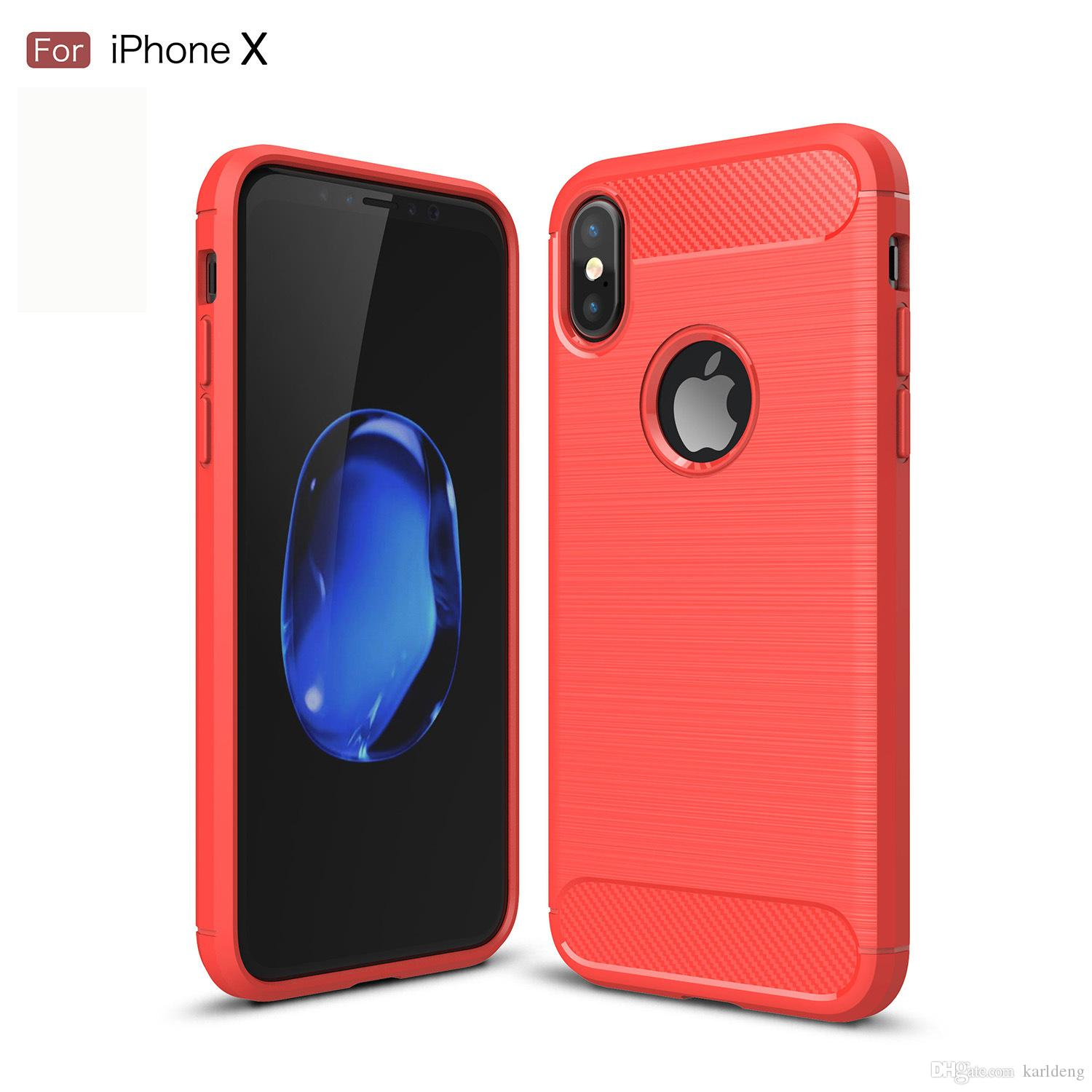 Luxury Litchi Texture Soft TPU Case for Iphone X 10 8 7 Plus 6S Plus