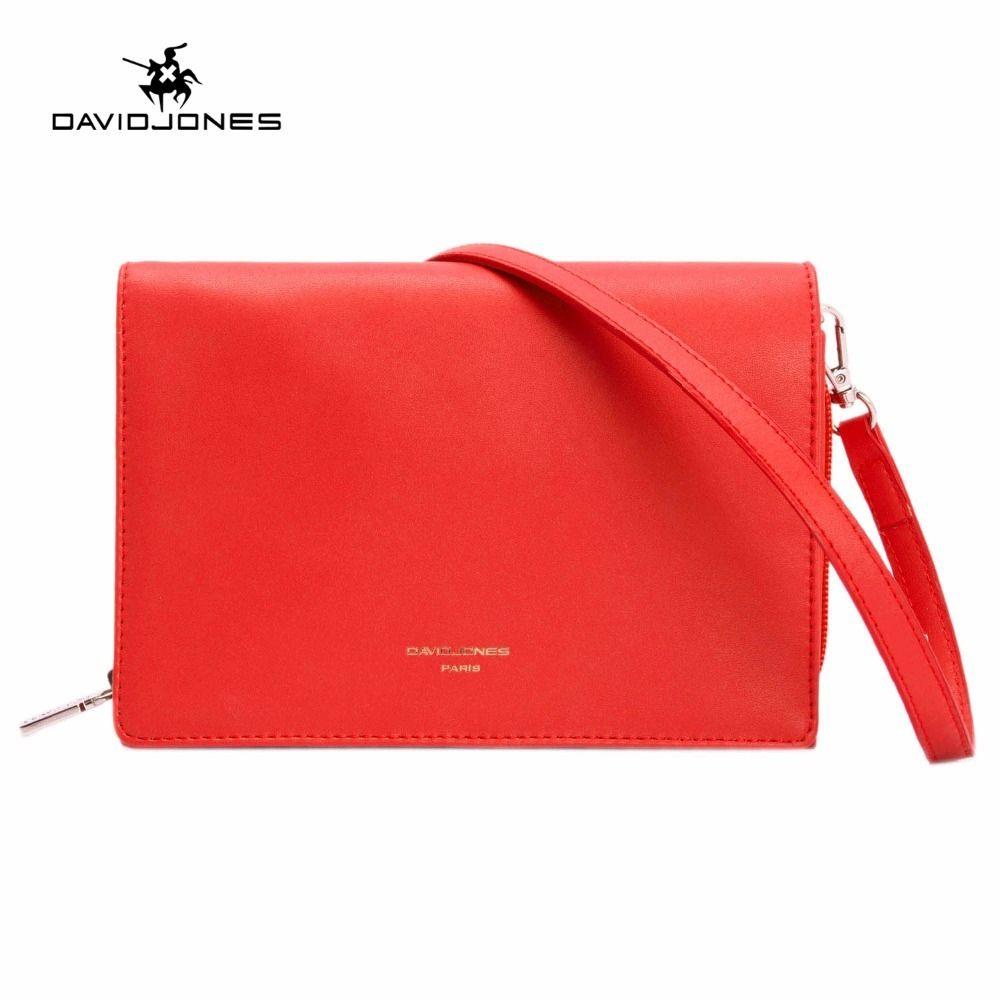 0faaffd5cfaf DAVIDJONES Women Handbag Faux Leather Female Shoulder Bags Small Lady Solid  Messenger Bag Girl Brand Crossbody Bag Drop Shipping Y1892708 Satchel Bags  ...