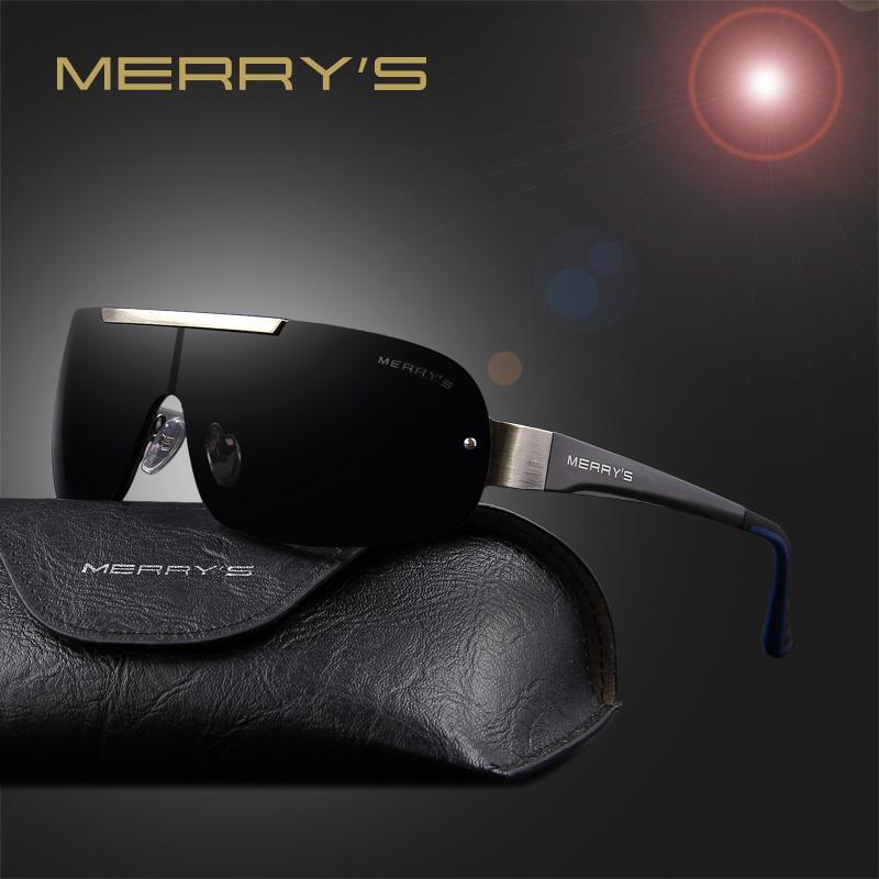 c8e6557ed Compre MERRY'S Fashion Classic Gafas De Sol Polarizadas Para Hombres  Diseñador De Marca HD Goggle Gafas De Sol Integradas Para Hombres Gafas  UV400 S'8616 ...