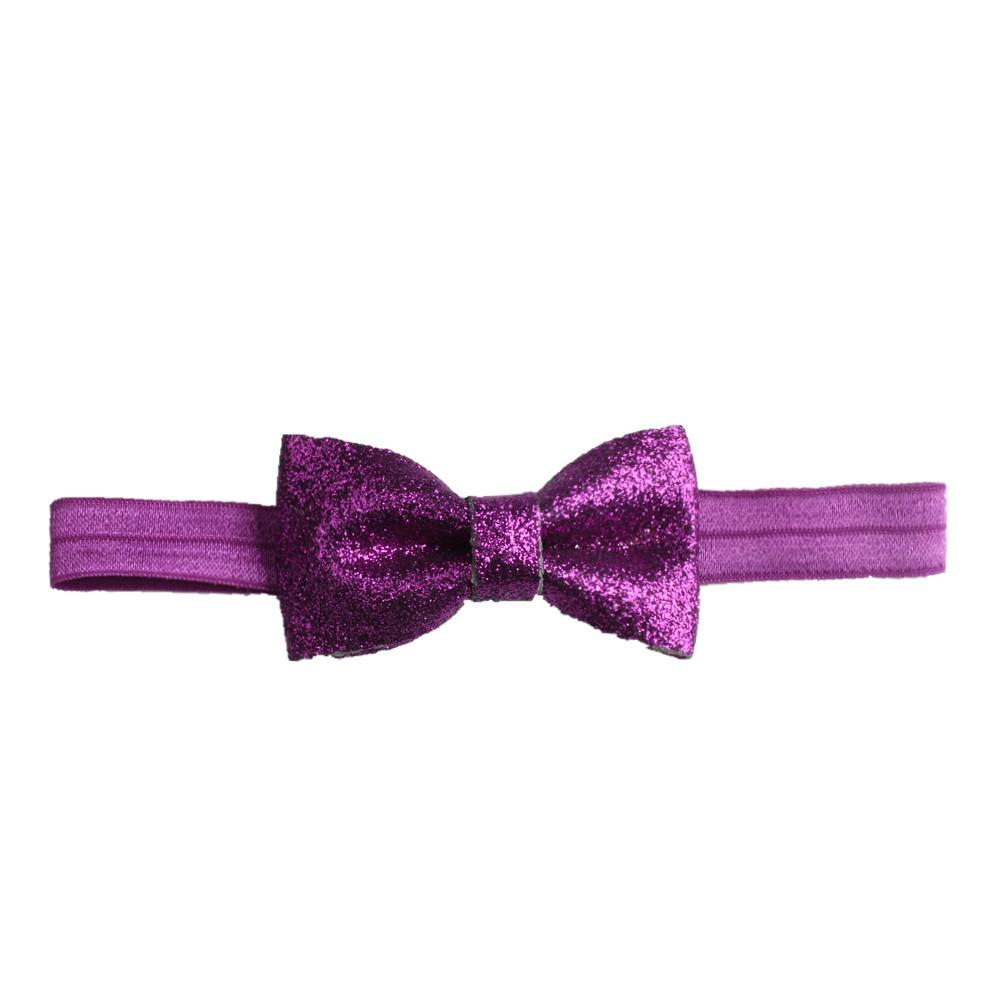 Infants Trendy Hair Accessories Girls Boutique Hair Shiny Bows Hairbands Baby Headbands Toddler Elastic Headress New