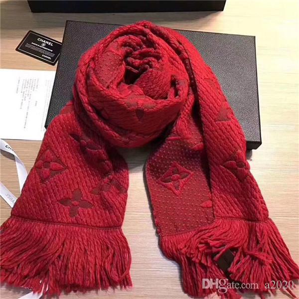 81c0a3d2977c2 Luxury Winter Scarf For Women Brand Designer Wool Cotton Brand Mens ...