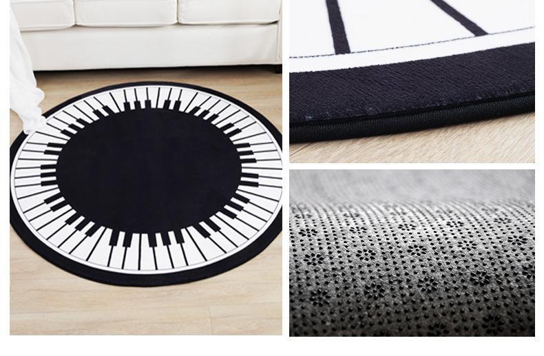 Moderne weiche Teppiche Boden Sitzende Bett Zimmer Klavier Teppich Matten Schützen Boden Pad Matting Schönheit Bunte Rest Covers