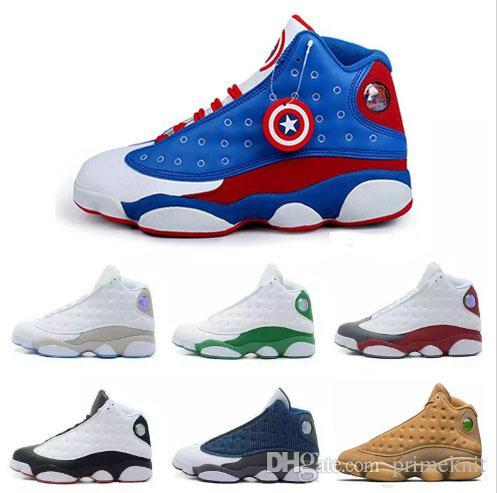 the best attitude 625d7 4efc6 Großhandel Basketball Schuhe 13 13er Jahre Chicago 3M GS Hyper Royal  Italien Blau Gezüchtet Bordeaux DMP Wheat Olive Ivory Black Herren  Sportschuhe Sneakers ...