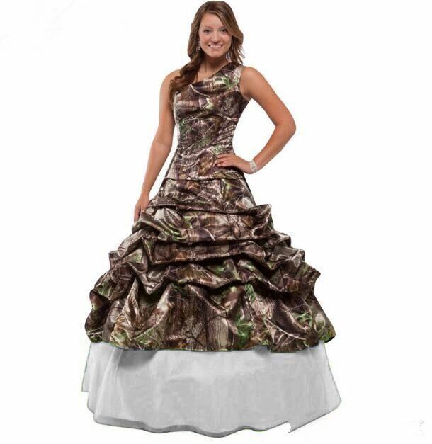 2018 Camo Wedding Dresses One Shoulder Ruched Red Green Blue Draped Camouflage Wedding Bridal Dresses Long Floor Length Bridal Gowns