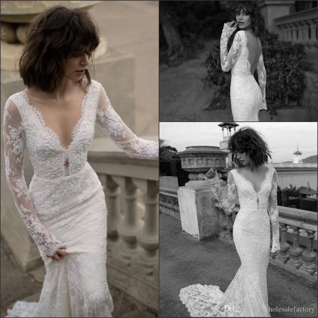 Liz Martinez 2019 Wedding Dresses: Liz Martinez Vintage Long Sleeves Lace Mermaid Wedding
