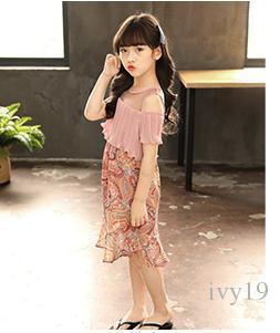 2018 nuovo stile di edizione coreana bambini abbigliamento sapore straniero brividi vestito di un pezzo 5-12 anni