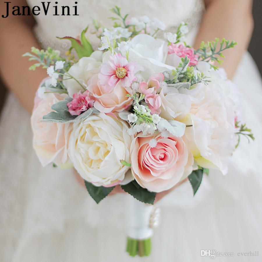 Janevini Silk Flower Wedding Bouquets Bridal Bouquet For Brides High