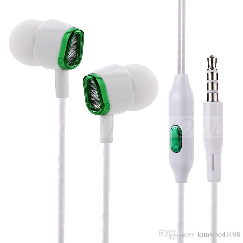 JY-357 auriculares auriculares auriculares auriculares de auriculares para el iPhone Samsung teléfono en la oreja con cable con el micrófono de 3,5 mm con el retailbox