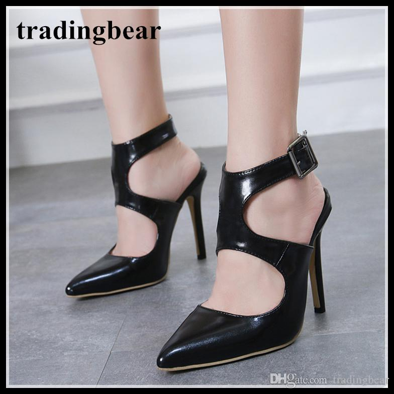 5e3db5c2765 Fashion Luxury Designer Women Shoes Office Lady Black PU Leather High Heel  Pointy Toe Pumps Work Shoes Size 35 To 40 Brown Dress Shoes Leather Shoes  For Men ...