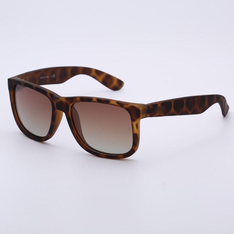 Gerçek kalite marka güneş gözlüğü 4165 justin modeli polarize lensler adam kadın orijinal deri kılıf paketleri ile, aksesuarlar gri gümüş kutu