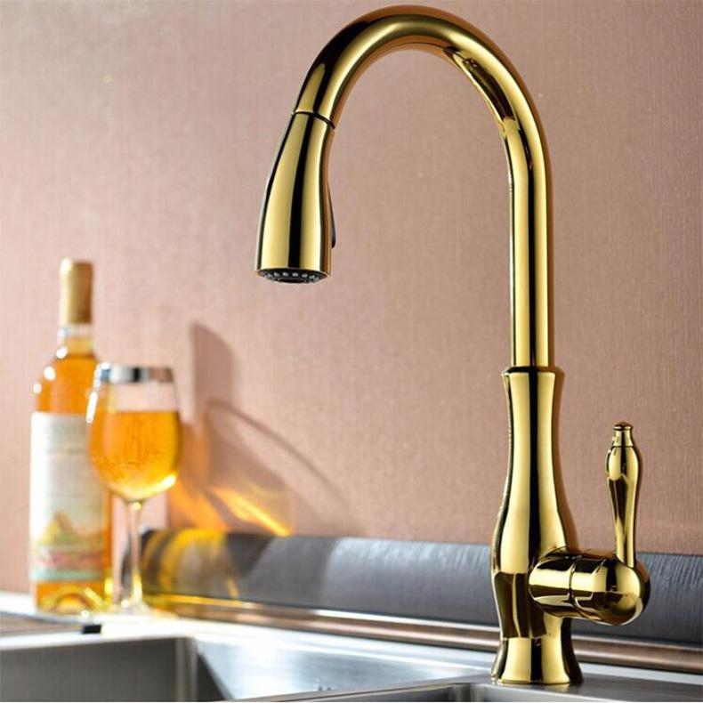 Discount High Quality New Deluxe Pull Out Spray Kitchen Faucet Mixer ...