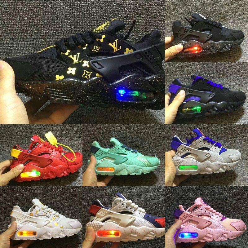 newest 14910 17540 Acheter Flash Light Airs Huaraches Chaussures De Course Pour Enfants  Sneakers Enfants En Bas Âge Huaraches Huraches Designer Hurache Casual Bébé  Garçons ...