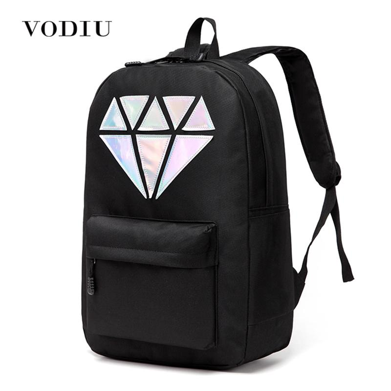 7ed606edc0 Women Backpack Schoolbag Teenage Backpacks For Girls Holographic Canvas Men  Backpack Male Laptop Waterproof Diamond School Bag Backpacks For School  Laptop ...
