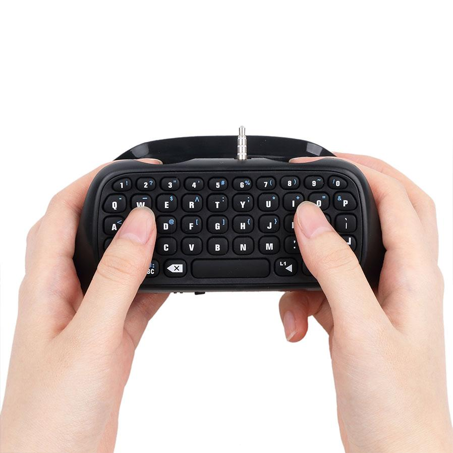KEBETEME For PlayStation PS4 game Controller Bluetooth V3.0 Wireless Keyboard Chatpad Keypad