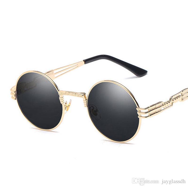 d8e00300bf Gothic Steampunk Sunglasses Men Women Metal WrapEyeglasses Round Shades  Brand Designer Sun Glasses Mirror High Quality UV400 Sport Sunglasses  Prescription ...