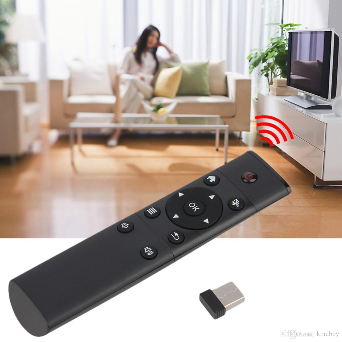 FM4 Magic 2.4G Wireless Remote Controller With USB Receiver Adapter for Android TV Box Smart TV TV-Dongle PC Projector DHL