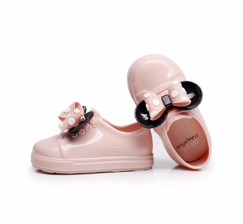 48427ddd2ee8 Mini Melissa Girl Sandals New Mickey Bowknot Casual Girl Single Shoes Candy Fruit  Jelly Shoes Waterproof Jacket Sandals Shoes Kids Shoes Boots Kids Discount  ...