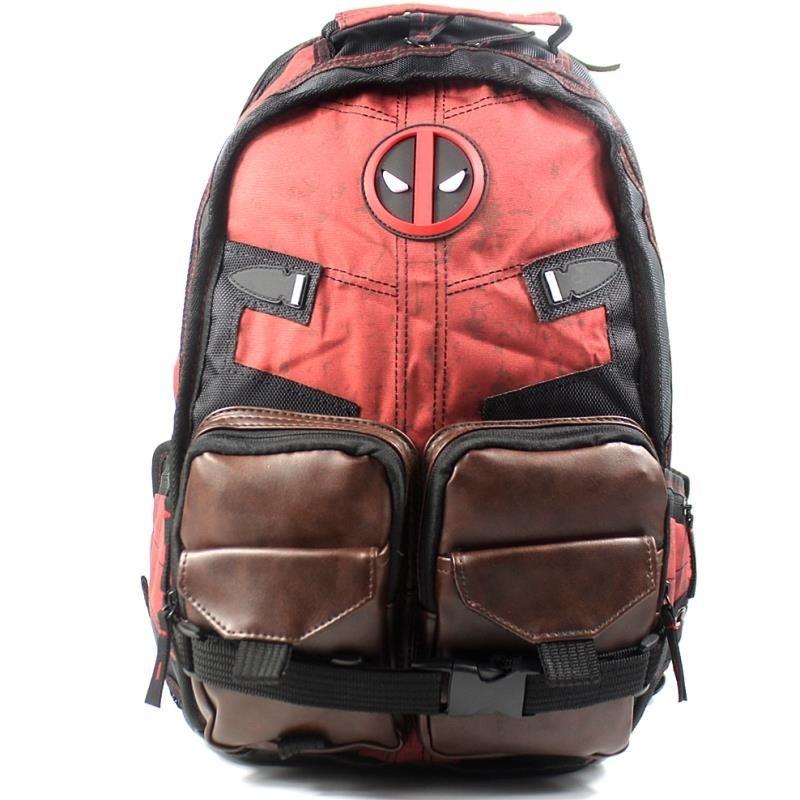 New Design Deadpool Mens Backpack For School Bag Teenagers Boys ... 6f54c0880d7b2