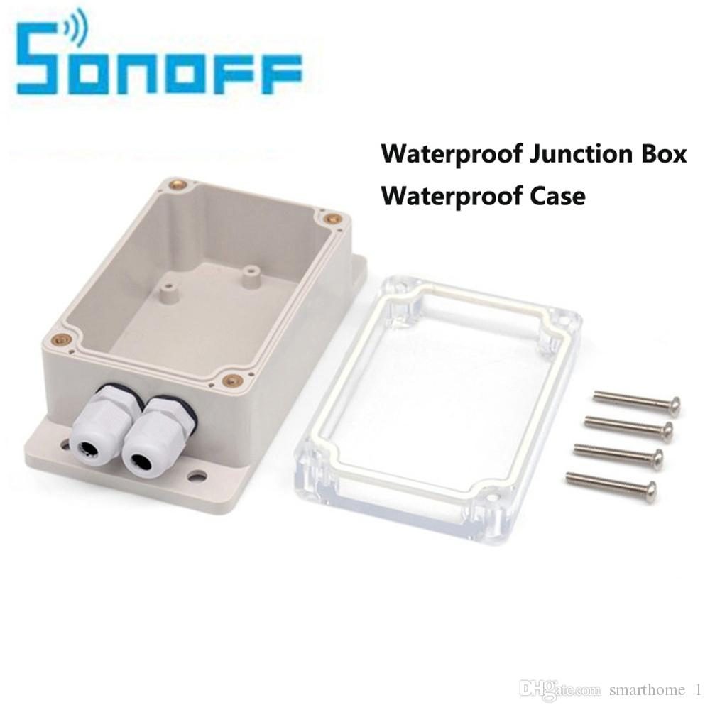 Home Automation Modules Ip66 Waterproof Cover Case Smart Home Automation Water-resistant Shell For Sonoff Wifi Switch Basic